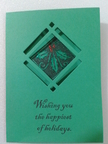 Accucut A6 Card-Diamond window card homemade stampin up christmas card
