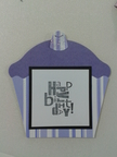Accucut Cupcake Pinnovation die birthday card gumdrop purple frosting